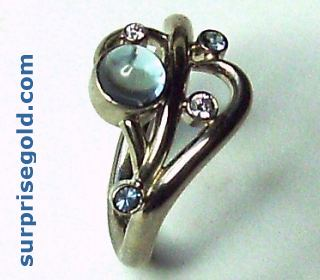 aquamarine and diamond rings