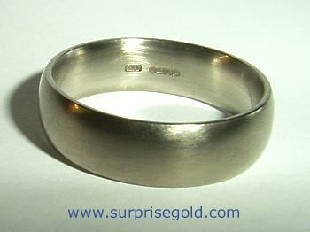 mans wide court section wedding ring