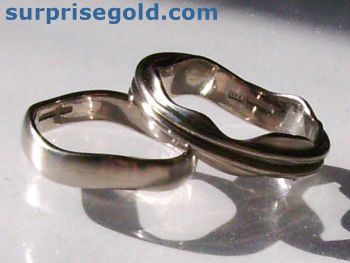 wedding rings and bands using ethical fairtrade gold