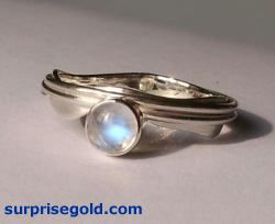 moonstone main stone ring